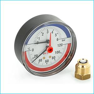 Термоманометры для отопления аксиальные