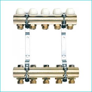 Коллекторная группа TIEMME с регулировочными и термостатическими вентилями