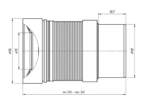 Гофра K821 Ани 110 мм для унитаза 2