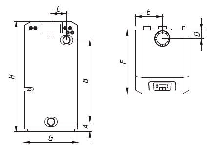 Котел CLEVER 20 WESTER напольный газовый 2
