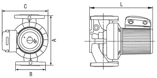 Насос Wester WCP 50-12F циркуляционный фланцевый 2