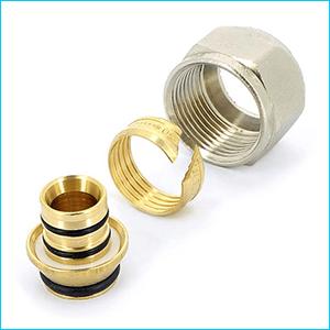 Соединитель обжим Uni-Fitt для металлопластиковых труб