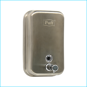 Дозатор для жидкого мыла настенный антивандальный Puff-8608m