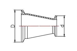 Переход кламп по стандарту DIN 32676 1