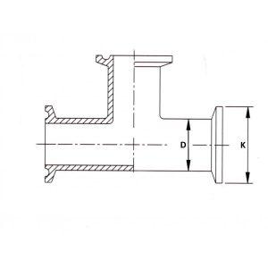 Тройник кламп по стандарту DIN 32676 1