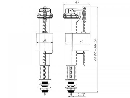 Ани Пласт WC5510 Впускной механизм с нижней подводкой 2