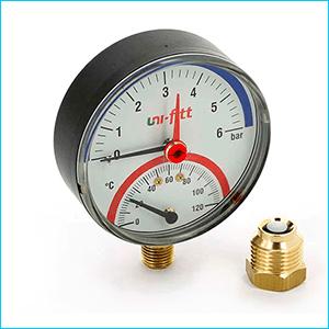 Термоманометры для отопления радиальные