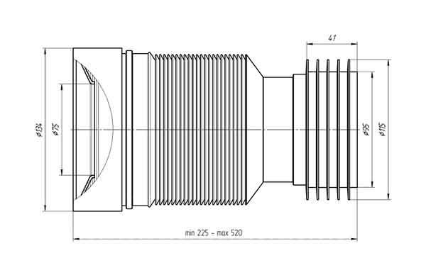 Гофра K828 Ани 110 мм для унитаза 2