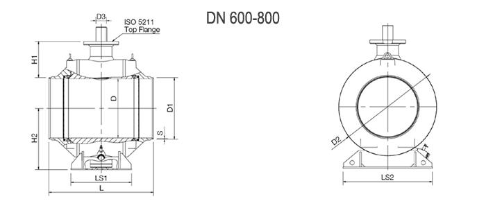 Кран шаровой NAVAL полнопроходной под приварку 3