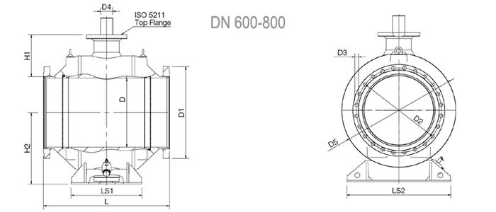 Кран шаровой NAVAL полнопроходной фланцевый 3