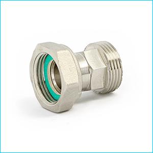 Соединение UNI-FITT никелированное с накидной гайкой
