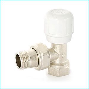 Клапан радиаторный угловой Uni-Fitt c разъемным соединением