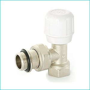 Клапан радиаторный угловой Uni-Fitt быстрого монтажа