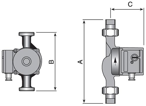 Wester WCP 25-80G Насос циркуляционный для отопления 2