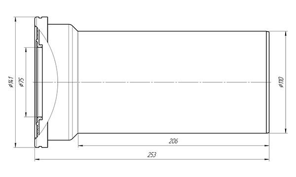 Труба фановая W1220 Ани выпуск 110 мм 2