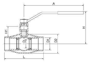 NAVAL Кран шаровой стальной стандартнопроходной резьбовой для пара 2