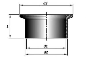 Штуцер кламп соединения по стандартам SMS3008, BS4825-3, ASME BPE 1