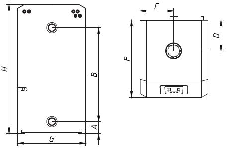 Котел CLEVER 55 WESTER напольный газовый 2