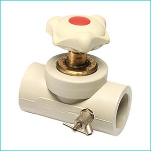 Вентиль проходной Ekoplastik PPR с выпускным клапаном