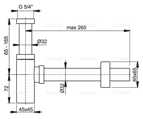 Сифон A401 Alcaplast для умывальника 2