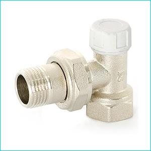 Клапан настроечный угловой Uni-Fitt c разъемным соединением