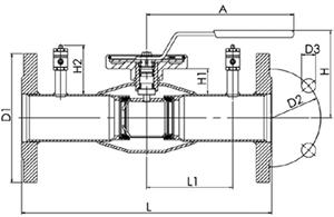 Кран шаровый регулирующий нержавеющий фланцевый NAVAL 2