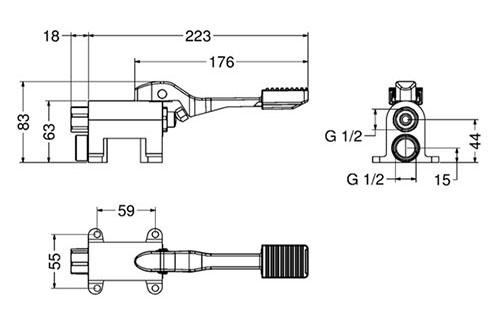 IDRAL 02061 Смеситель педальный напольный для холодной воды 2